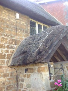 Porch Re-Thatch Before