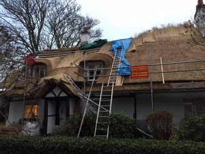 Re-Thatching in Knighton